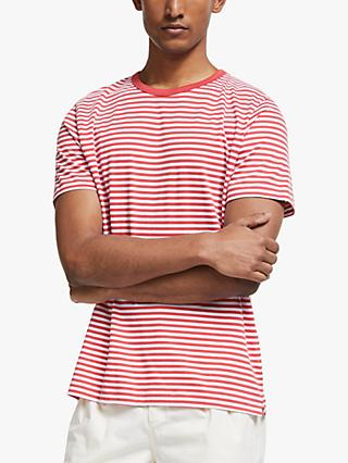 John Lewis & Partners Supima Cotton Fine Stripe T-Shirt