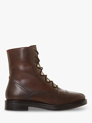 Bertie Peplume Leather Ranger Ankle Boots