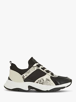 Dune Eiffel Contrast Panel Trainers, Black