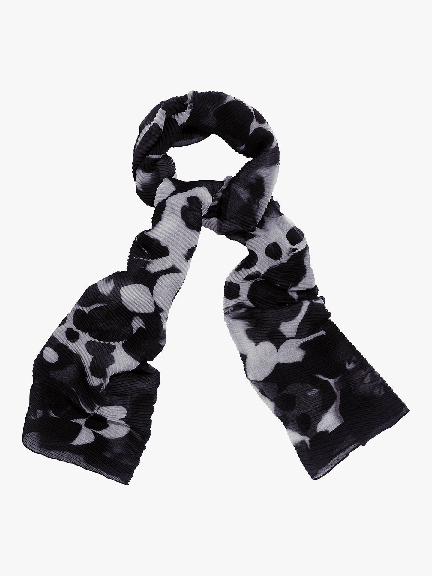 Buy Phase Eight Zeta Pleated Scarf, Blue/Ivory, One Size Online at johnlewis.com
