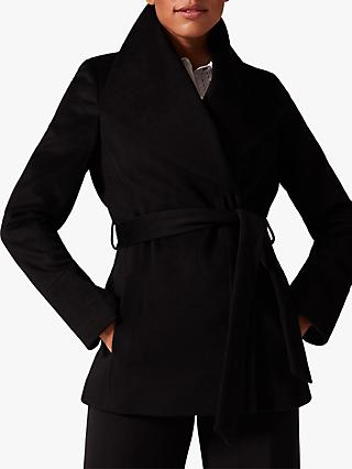 Phase Eight Nicci Short Belted Coat, Black