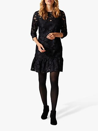 Phase Eight Arla Lace Dress, Black/Navy