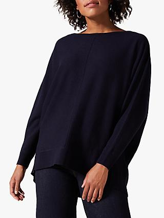 Phase Eight Eve Exposed Seam Jumper, Navy