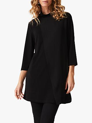 Phase Eight Maggie Cowl Neck Longline Top, Black