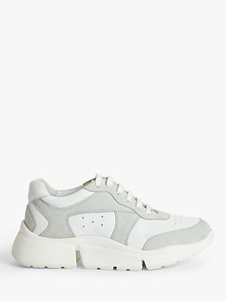 Kin Earnell Chunky Leather Trainers, White