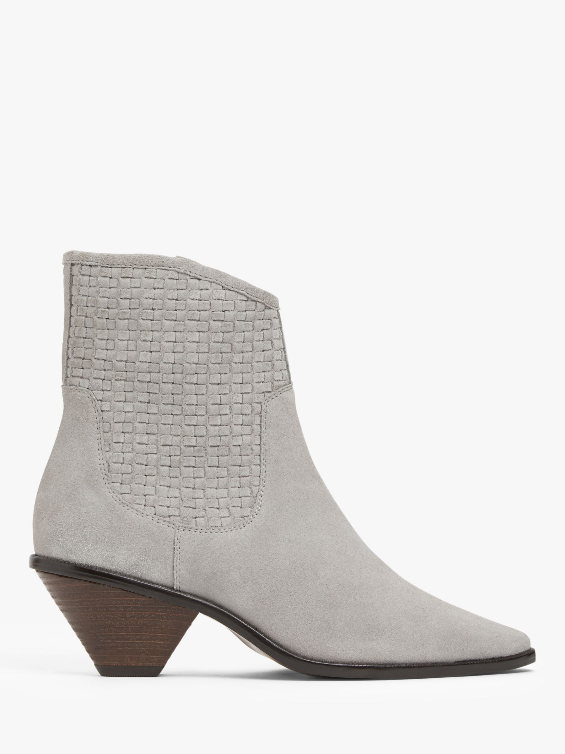 Buy AND/OR Priyah Suede Western Ankle Boots, Grey, 4 Online at johnlewis.com