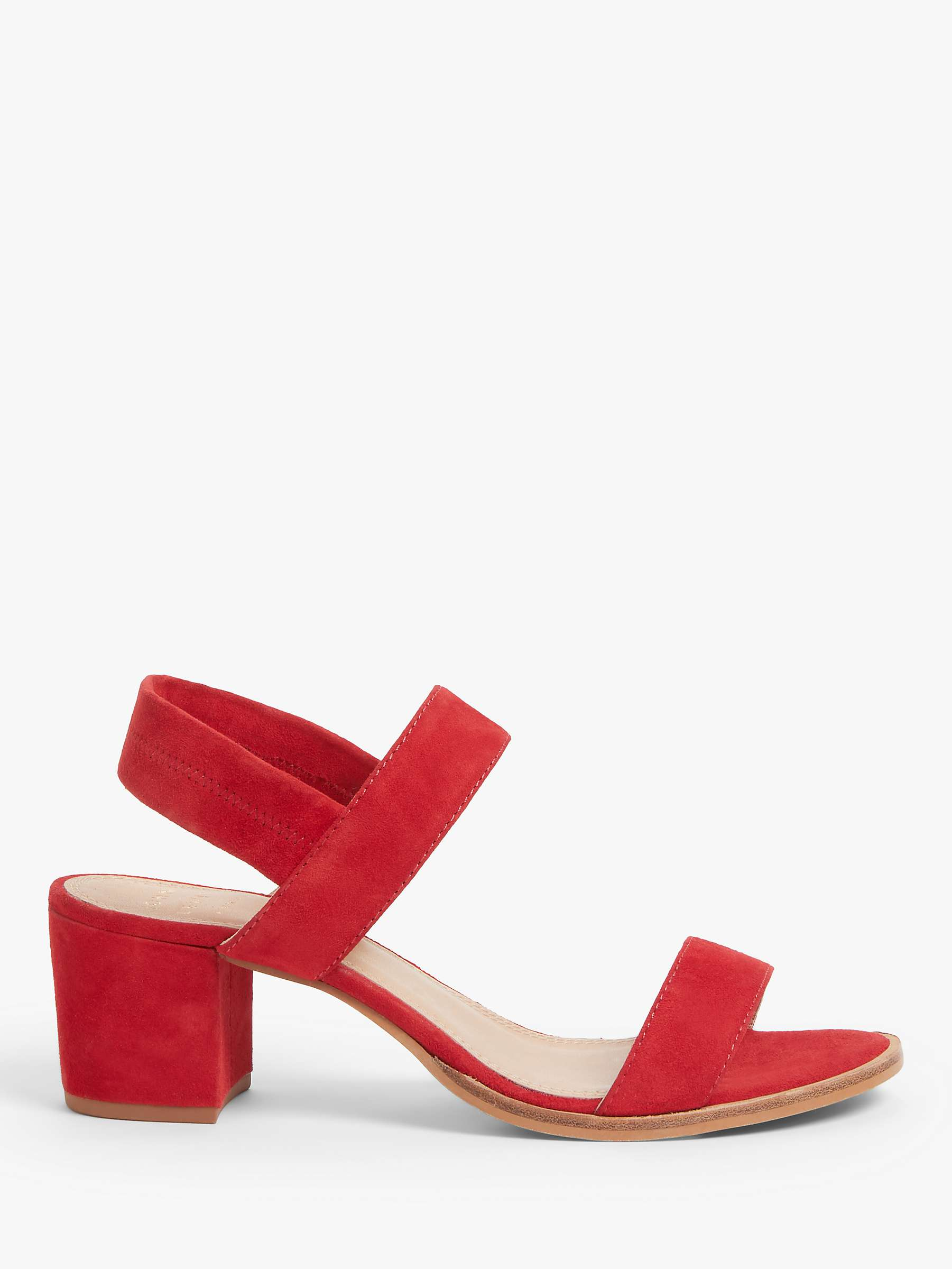 great fit good clearance sale John Lewis & Partners Jasmin Suede Block Heel Sandals, Red at John ...
