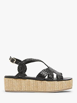 AND/OR Laine Leather Woven Flatform Sandals