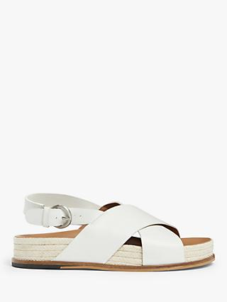 Kin Lillian Leather Cross Strap Slingback Sandals