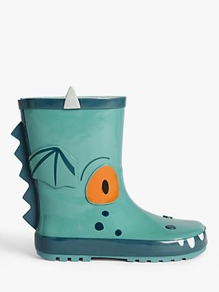 Excitable Edgar Children's 3D Wellington Boots, Green