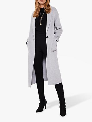 Mint Velvet Grey Split Seam Coat, Grey