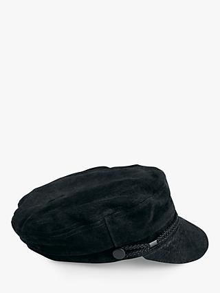 hush Siena Suede Baker Boy Hat, Black