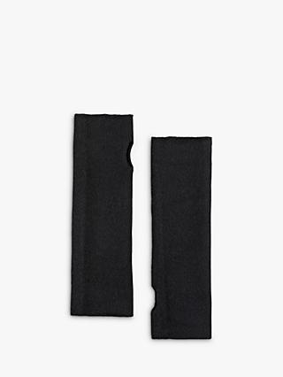 hush Cashmere Fingerless Gloves, Black