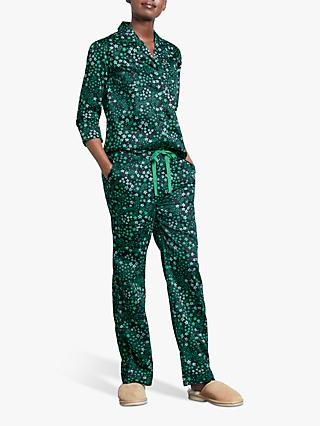 hush Star Cotton Pyjama Bottoms, Midnight/Jelly Bean