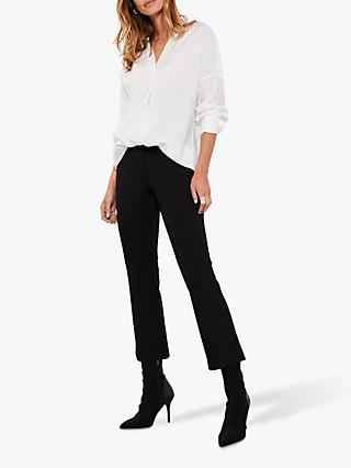 Mint Velvet Ponte Kick Flare Trousers, Black