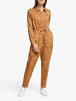 People Tree X BBC Earth Cheetah Print Shirt Jumpsuit, Multi