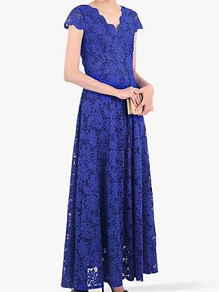 Jolie Moi Scallop V-Neck Lace Dress
