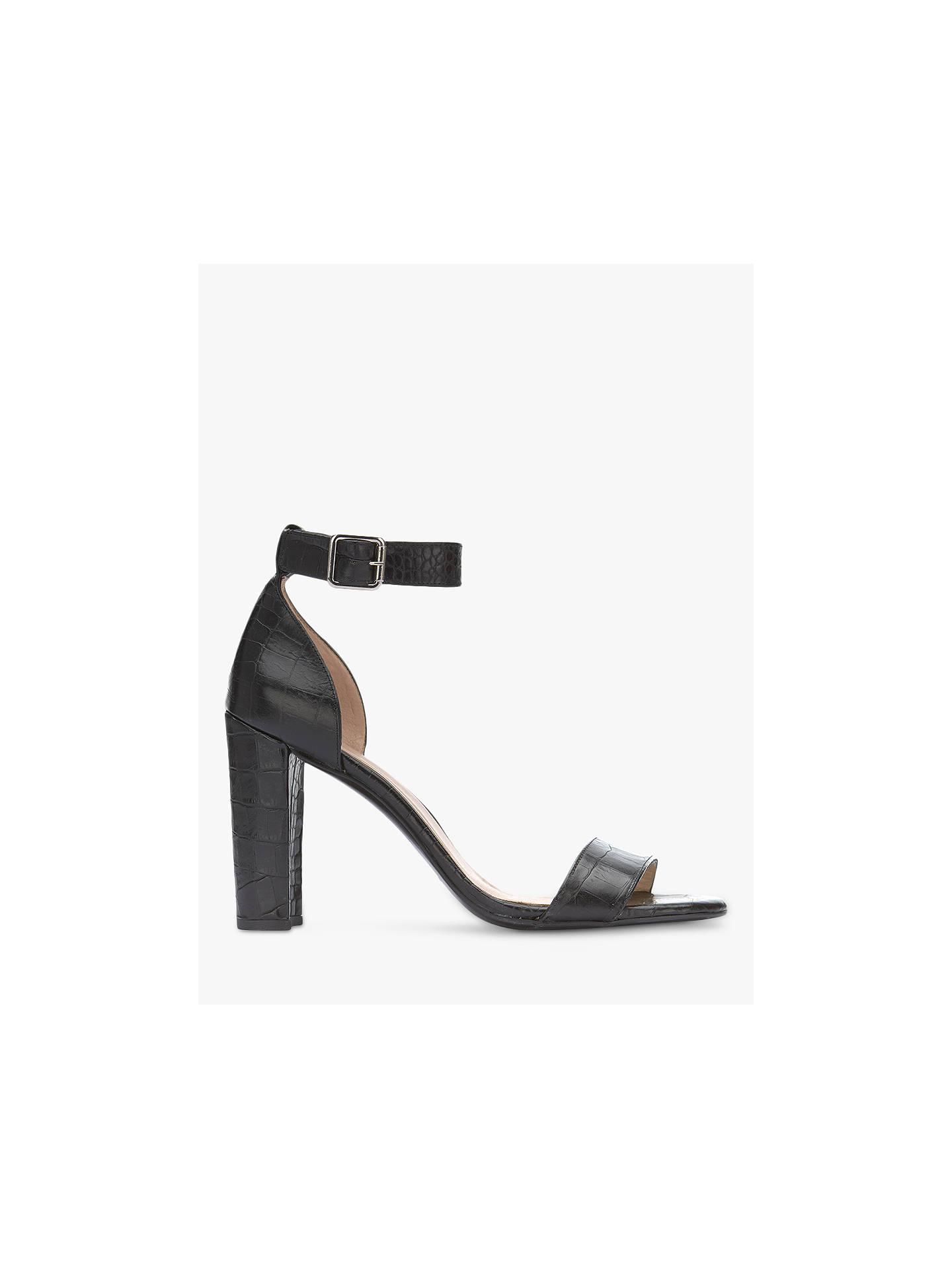 d0097c04d6d Mint Velvet Lucy Leather Block Heel Sandals, Black Croc