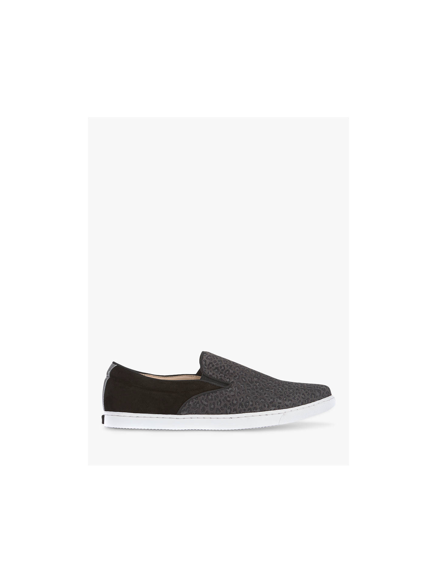 Buy Mint Velvet Talia Animal Print Leather Slip On Trainers, Grey Leopard, 8 Online at johnlewis.com