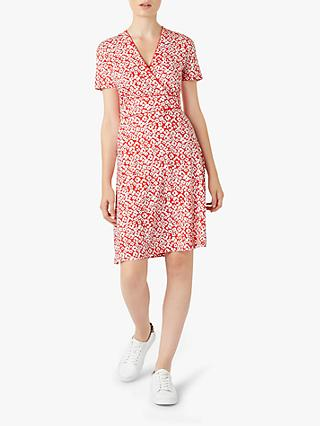 Hobbs Darcie Dress, Red/Ivory