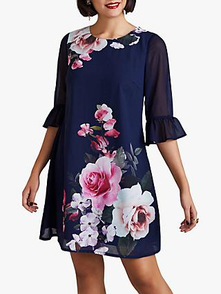 Yumi Floral Tunic Dress, Navy