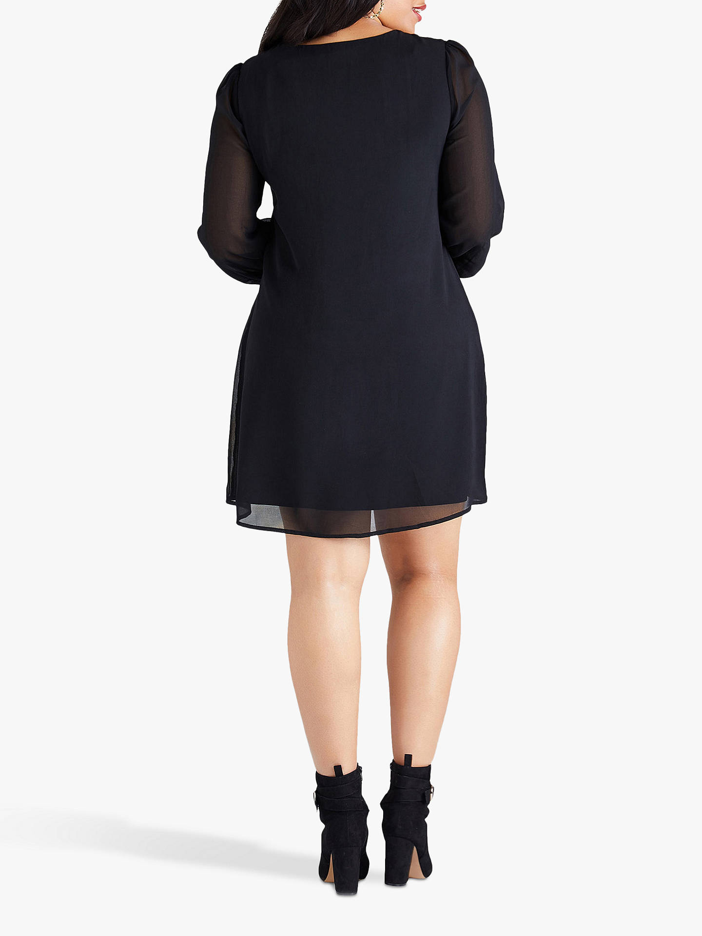 Buy Yumi Curves Butterfly Tunic Dress, Black, 18 Online at johnlewis.com