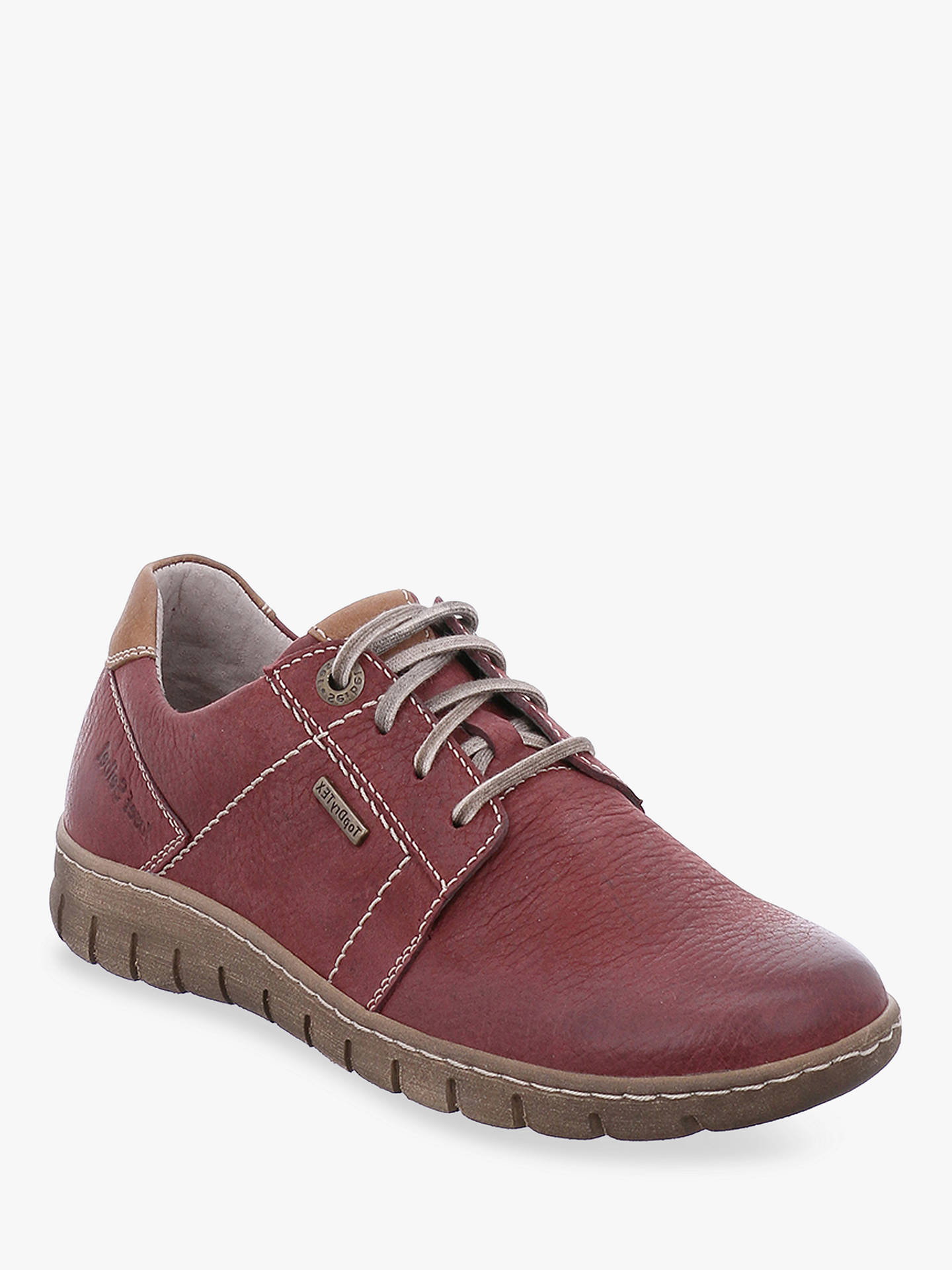 Buy Josef Seibel Steffi 59 Lace Up Trainers, Bordo, 5 Online at johnlewis.com