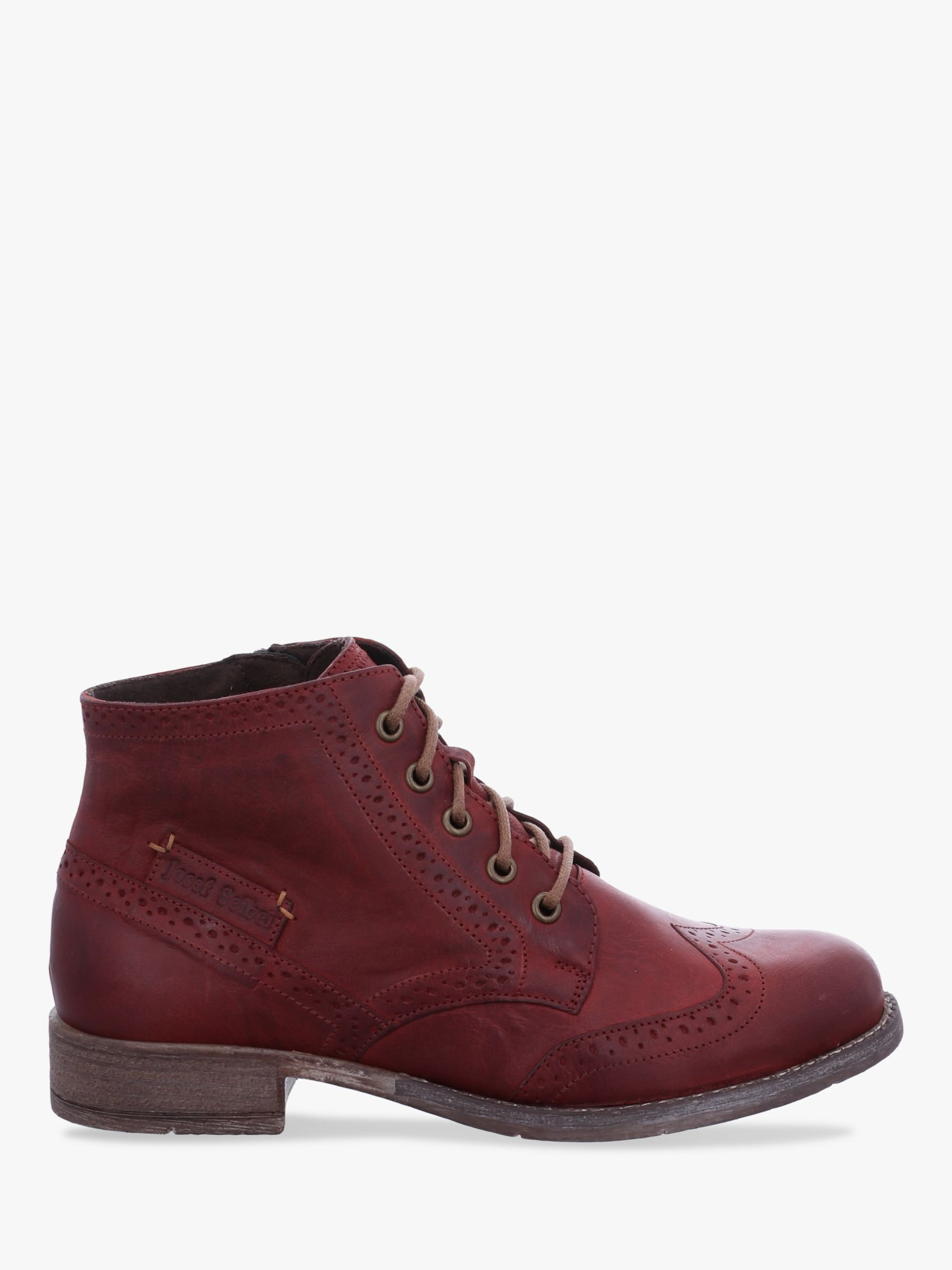 Josef Seibel Josef Seibel Sienna 74 Leather Lace Up Ankle Boots