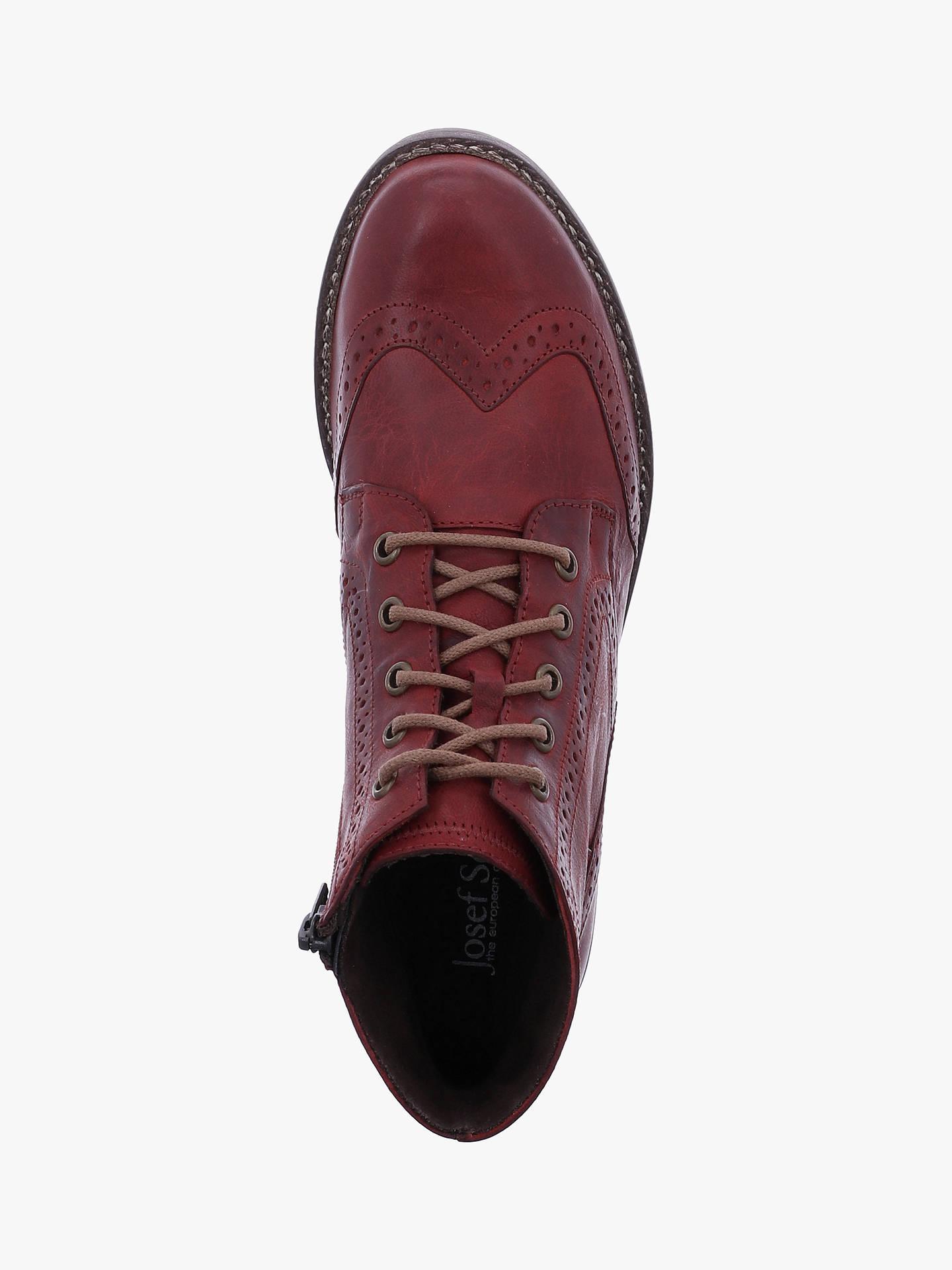52810b171d9ba Josef Seibel Sienna 74 Leather Lace Up Ankle Boots, Bordeaux