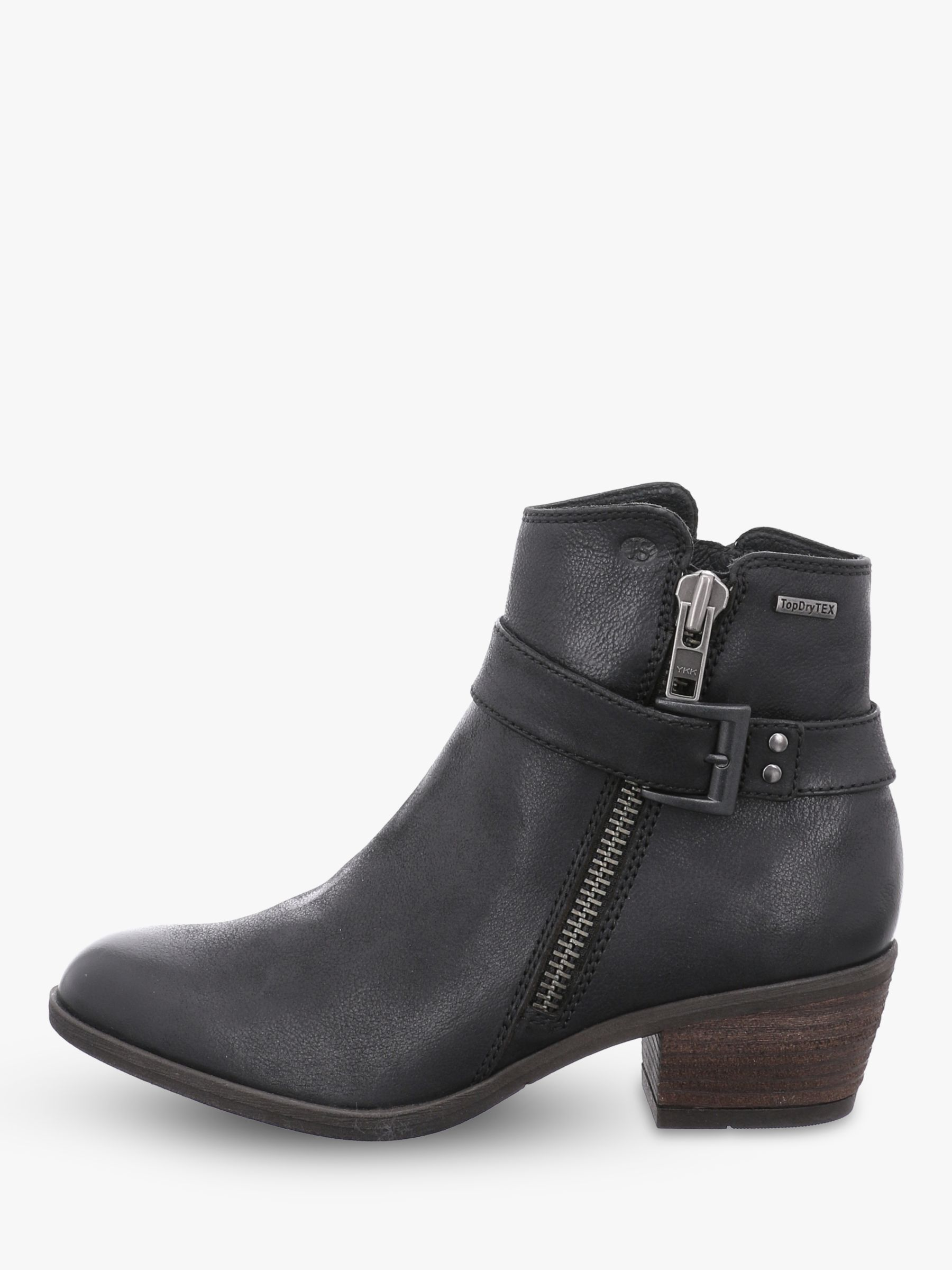 Josef Seibel Josef Seibel Daphne 52 Block Heel Ankle Boots, Schwarz