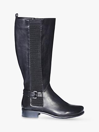 Josef Seibel Alicia 4 Leather Knee High Boots, Schwarz