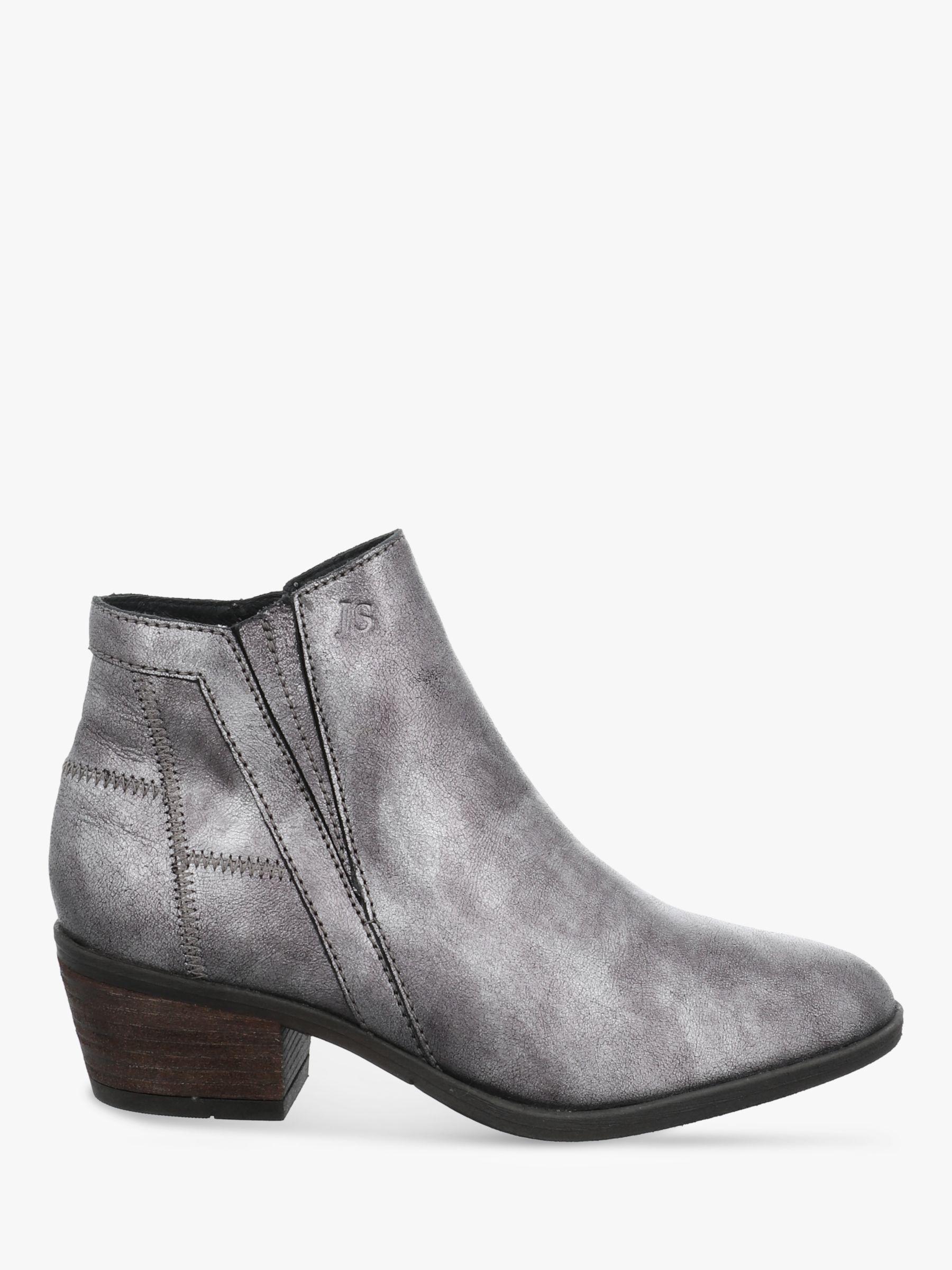 Josef Seibel Josef Seibel Daphne 9 Block Heel Ankle Boots, Basalt