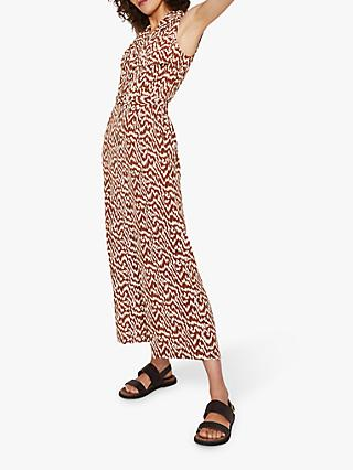 Warehouse Woodgrain Jumpsuit, Tan