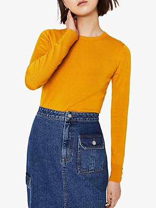 Warehouse Button Cuff Knit Jumper