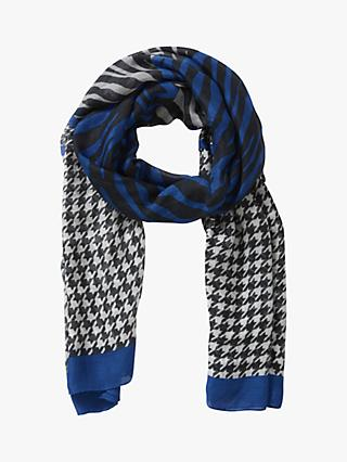 Betty Barclay Animal Check Print Scarf, Blue/Black