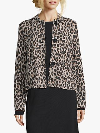Betty Barclay Animal Print Jacket, Black/Camel