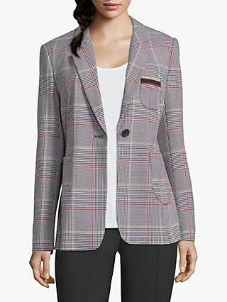 Betty Barclay Check Blazer, Black/Cream
