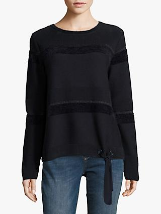 Betty Barclay Hem Tie Jumper, Dark Sky