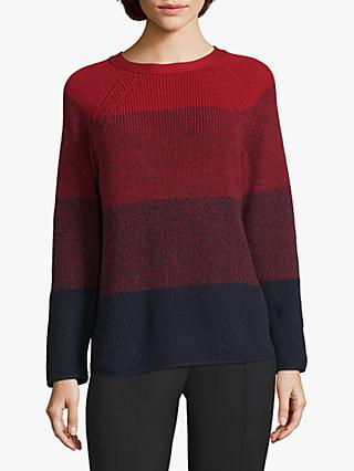 Betty Barclay Cotton Blend Colour Block Jumper