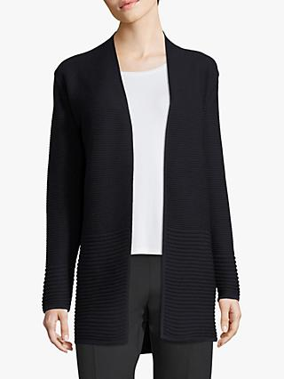 Betty Barclay Ribbed Cardigan, Dark Sky