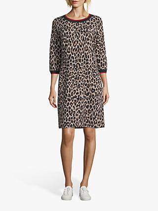 Betty Barclay Animal Print Dress, Black/Camel