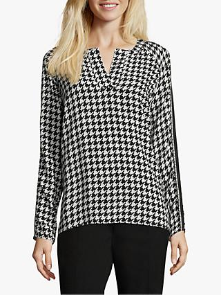 Betty Barclay Herringbone Print Blouse, Black/Cream