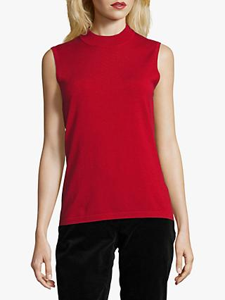 Betty Barclay Sleeveless Top, Red Scarlet