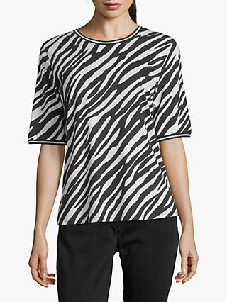Betty Barclay Cotton Blend Zebra Print T-Shirt