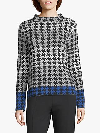 Betty Barclay Herringbone Jumper, Grey/Black