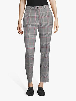 Betty Barclay Check Trousers, Black/Cream