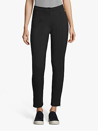 Betty Barclay Ankle Zip Detail Straight Trousers, Black