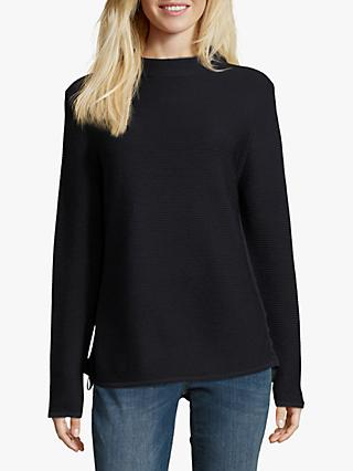 Betty Barclay Funnel Neck Ribbed Jumper, Dark Sky