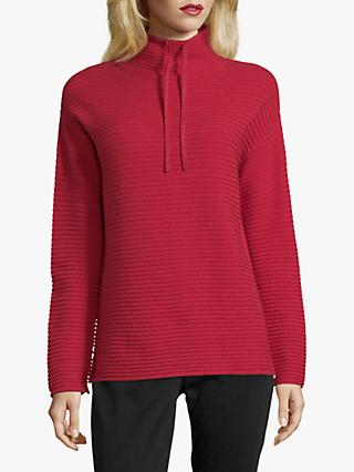 Betty Barclay Cotton Blend Ribbed Jumper, Scarlet
