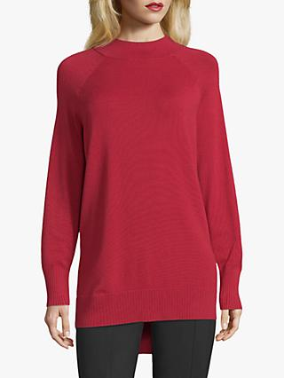 Betty Barclay Long Funnel Neck Jumper, Red Scarlet